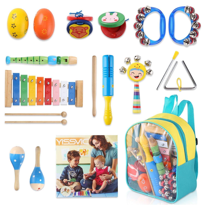 Isuper Holz Pfeife Spielzeug Zuf/ällige Farbe Cartoon Tiere Pfeife Musikinstrument Spielzeug f/ür Kinder ab 18 Monaten