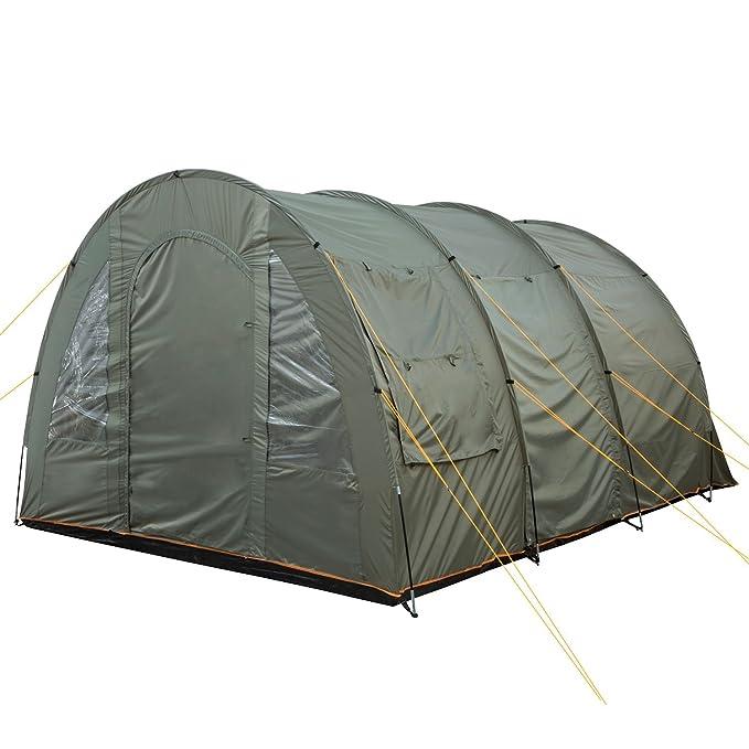CampFeuer - Big Tunnel-Tent, Verde/Gris, 5000 mm: Amazon.es ...