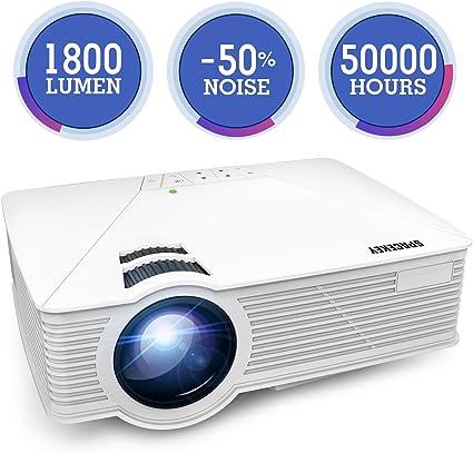 Amazon.com: Nuevo proyector, spacekey GP19 Mini proyector ...