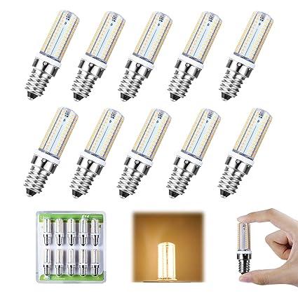 Liqoo® 10 x E14 5W Bombilla LED Lámpara Bajo Consumo Silicona Blanco Cálido 3000K AC