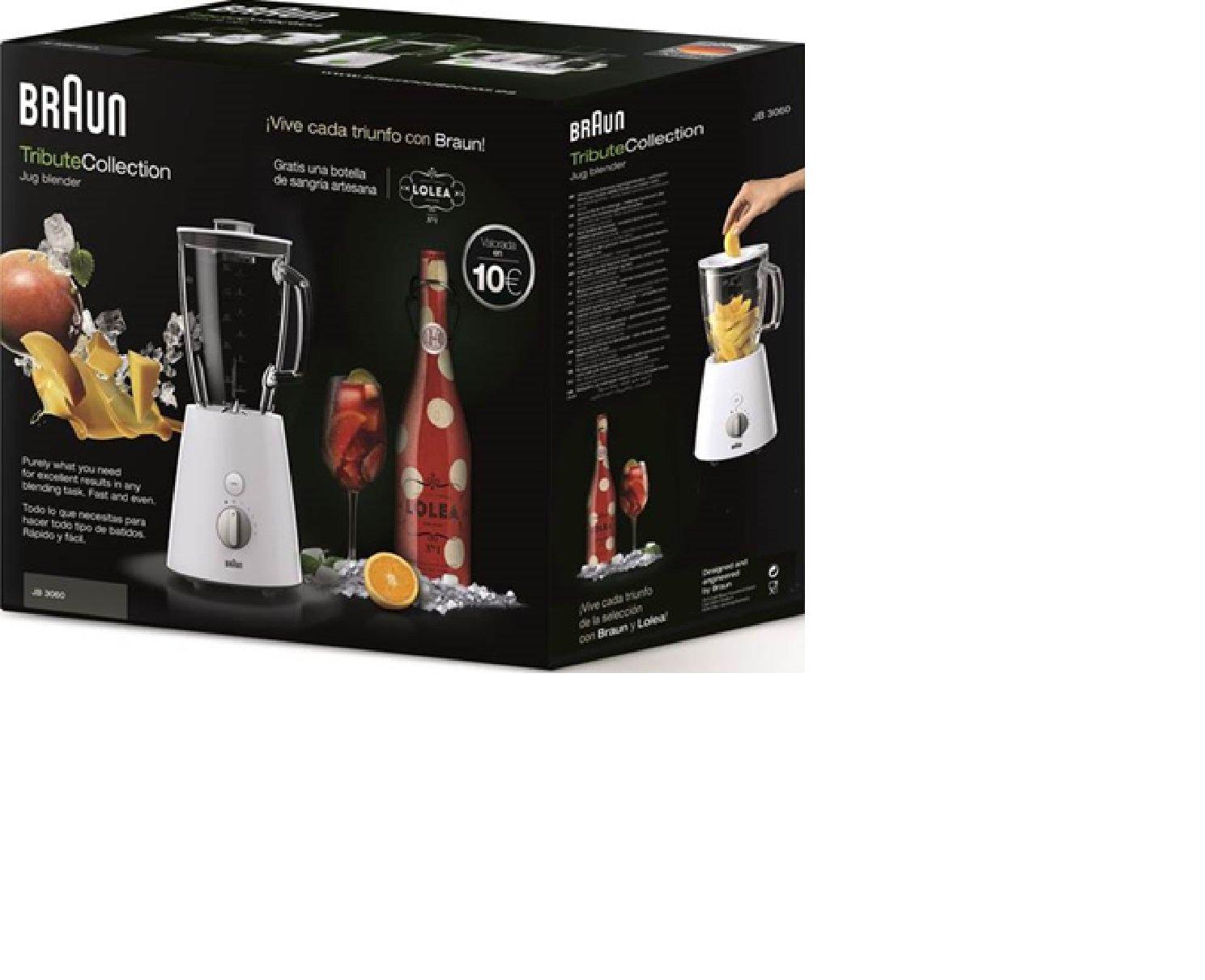 Braun JB 3060 WHS Batidora de vaso 1.75L 800W Verde, Color blanco - Licuadora (1,75 L, Batidora de vaso, Verde, Blanco, Vidrio, 800 W): Amazon.es: Hogar