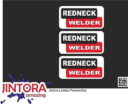 JINTORA - Redneck Welder Hard Hat/Helmet Stickers - Pegatina ...