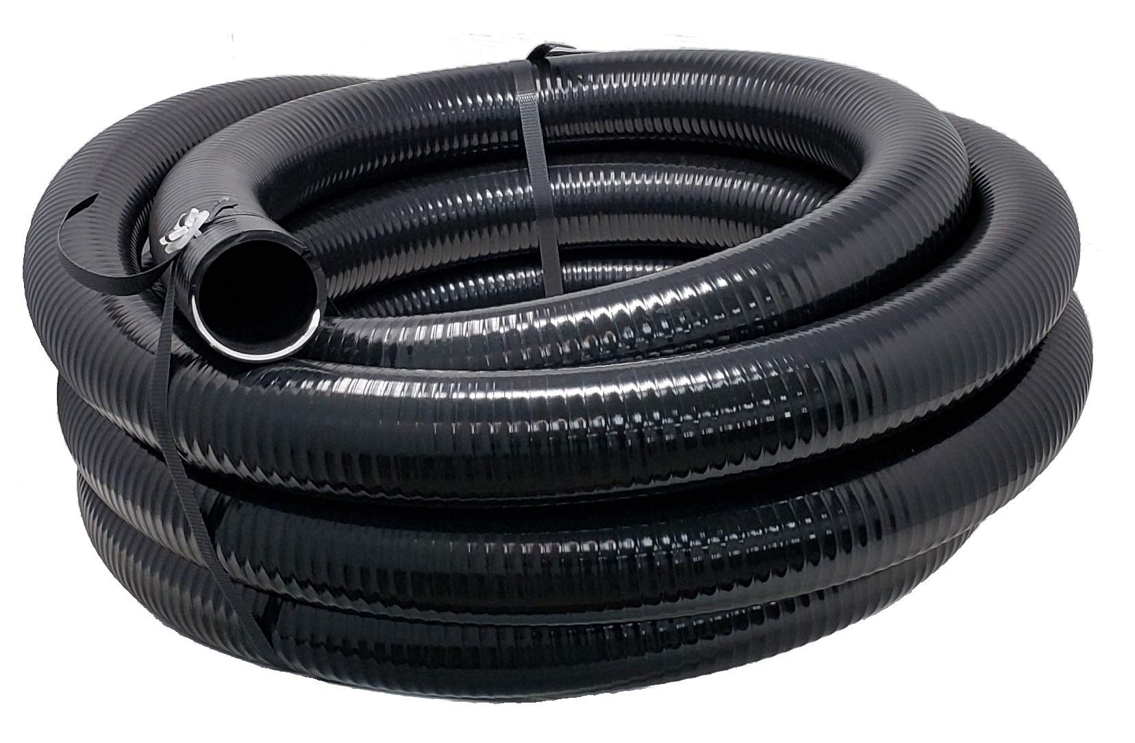 Sealproof Flexible PVC Pipe, Pond Hose, Pool and Spa Tubing, Black, 2 Inch Dia, 25 FT Length, Made in USA by Sealproof