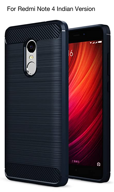 sneakers for cheap cf7bf e9306 Golden Sand Rugged Armor Back Cover For Redmi Mi Note 4 - Metallic Blue