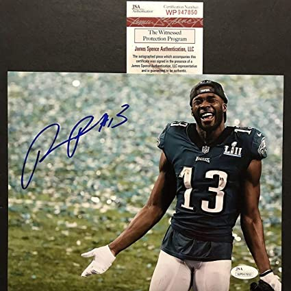 newest 86125 d3f40 Autographed/Signed Nelson Agholor Philadelphia Eagles Super ...
