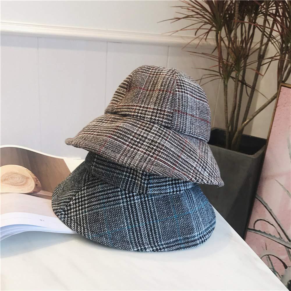 Yunbai Sombrero del sombrero del cubo Pescador sombrero del algod/ón del sombrero al aire libre Mujer Cap de pesca deportiva sombrero del sol del sombrero de Hip Hop cuenca del sombrero del visera ver