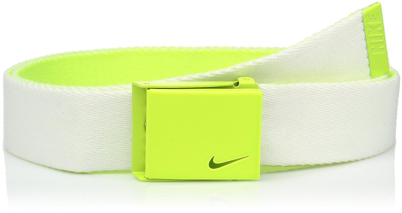 volt//white One Size Nike Mens Standard New Tech Essentials Reversible Web Belt