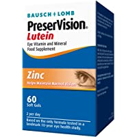 bausch&lomb 3242534 preservison eye vitamin and mineral food supplement lutein for amd 60 soft gels