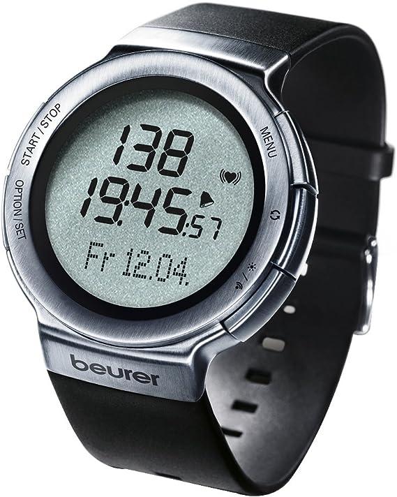 Beurer PM80 - Pulsómetro con fijación para bicicleta, calendario, conexión PC, color negro: Amazon.es: Salud y cuidado personal