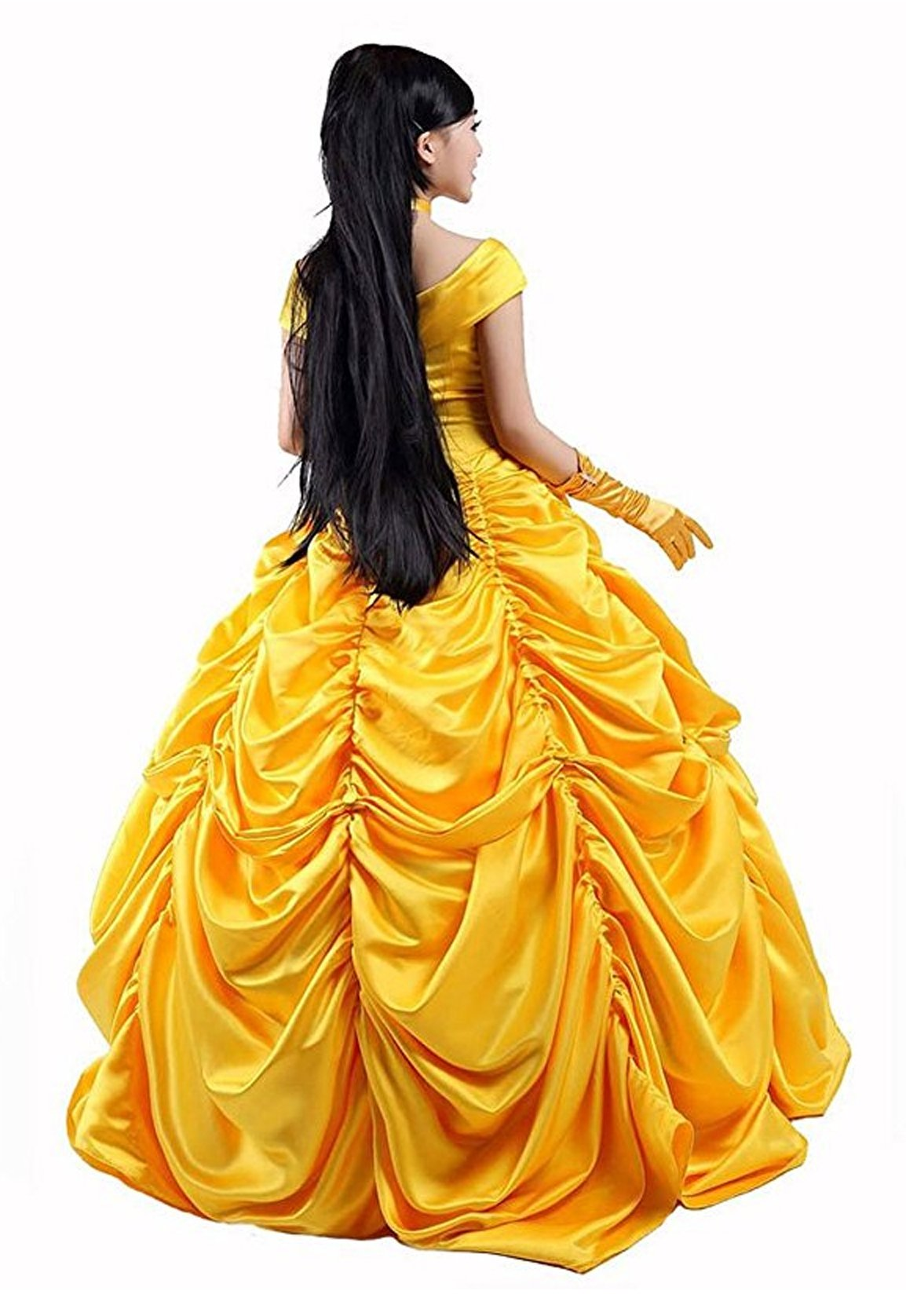 HalloweenCostumeParty Beauty and Beast Belle Costume Dress For Adults Woman (L) by HalloweenCostumeParty (Image #6)