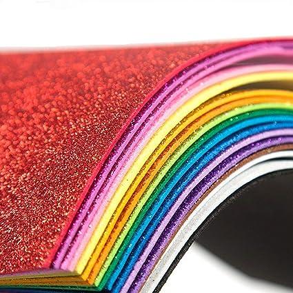 Amazon Com Glitter Foam Sheet Sparkles Self Adhesive Sticky 30 X