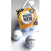 Factory Direct Overrun 2 Piece Golf Balls - Spin/Distance Balls (18 Pack)