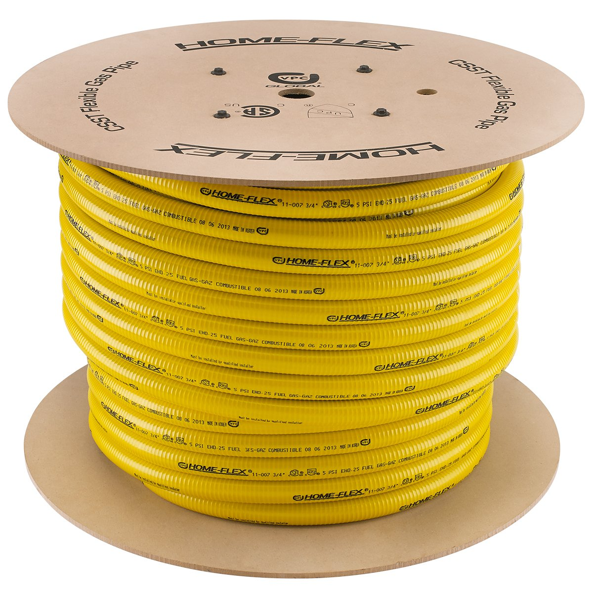 HOME-FLEX 3/4 In. X 250 Ft. CSST Corrugated Stainless Steel Tubing