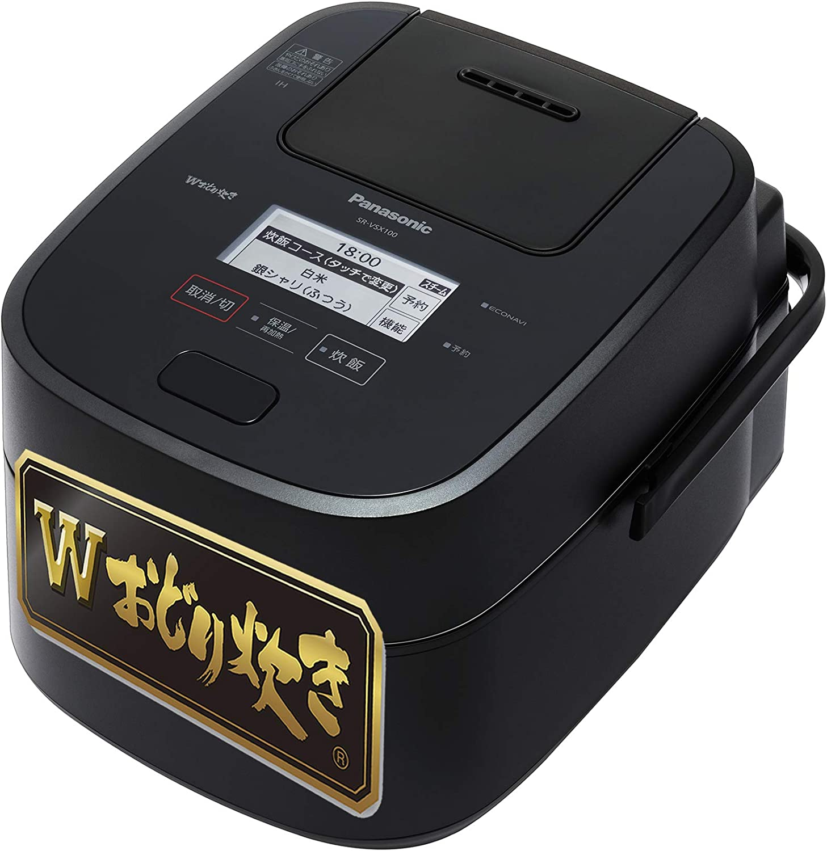 5.5合炊き炊飯器 パナソニック Wおどり炊き スチーム&可変圧力IHジャー