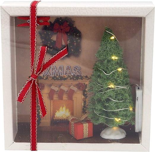 ZauberDeko Decoración mágica para Regalar Dinero, Caja de Navidad, Chimenea de Navidad, Regalo, Guirnalda de Luces LED: Amazon.es: Juguetes y juegos