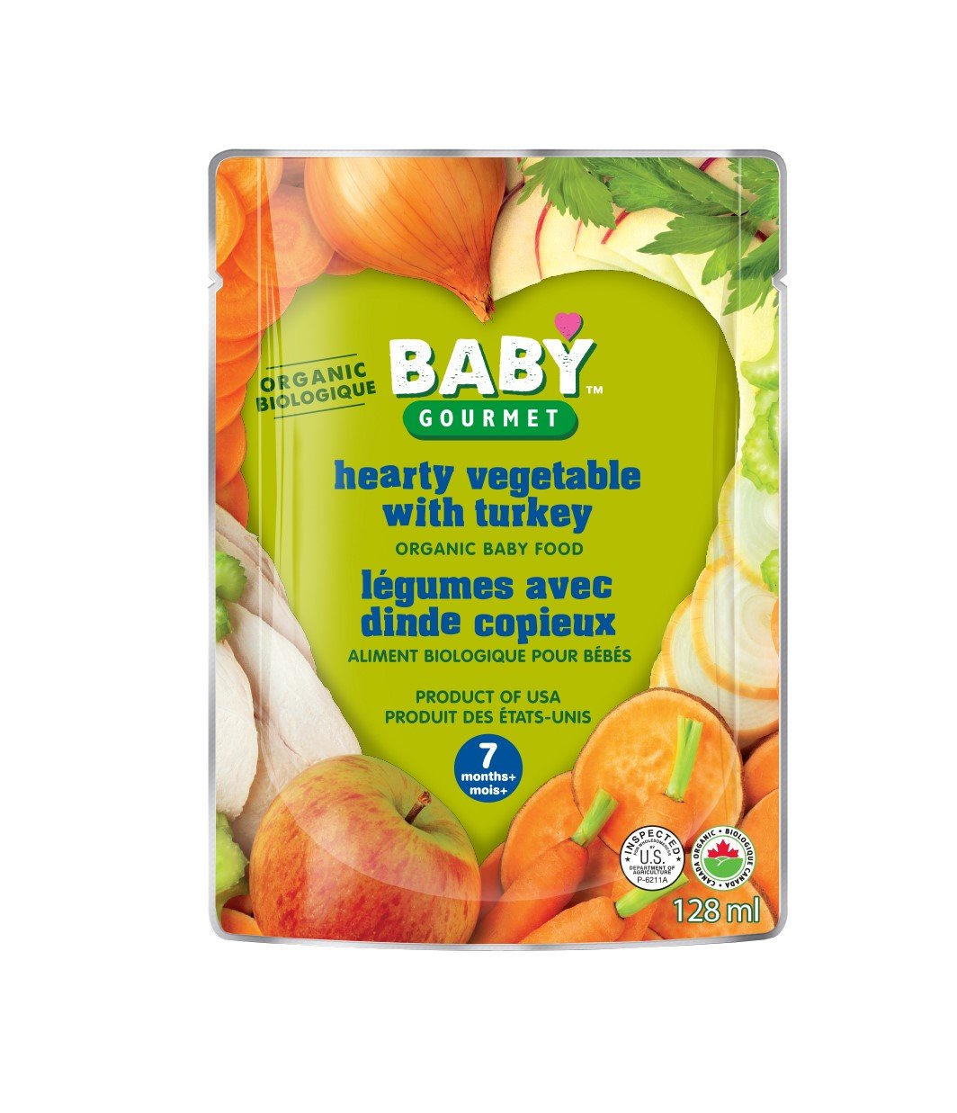 Baby Gourmet Yummy Combos Hearty Vegetables with Turkey, 16 Count Baby Gourmet Foods Inc HVWT4BGCSCD0016