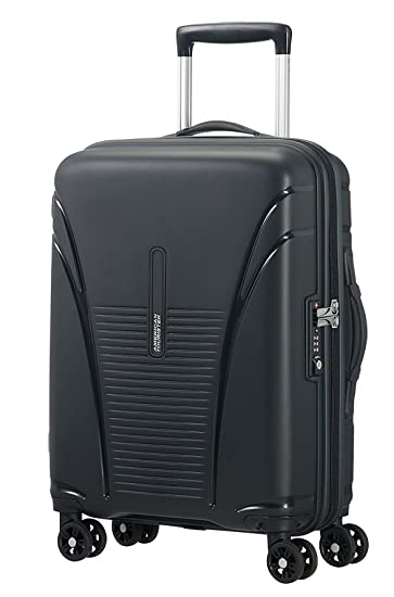American Tourister Polypropylene 55 Cms Black Hard Sided Suitcases    Trolley Bags a47915c563