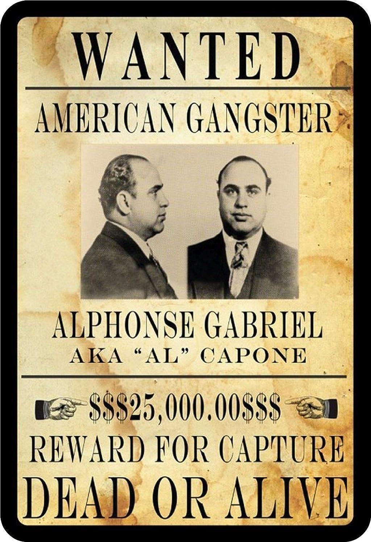 BlechschilderWelt Plaque en t/ôle Wanted Al Capone