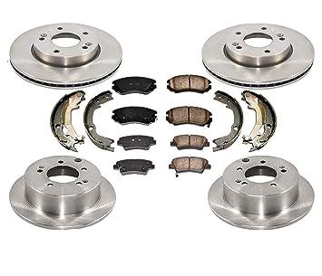 Front and Rear Premium Rotors/& Ceramic Pads for 2012-2013 Kia Soul