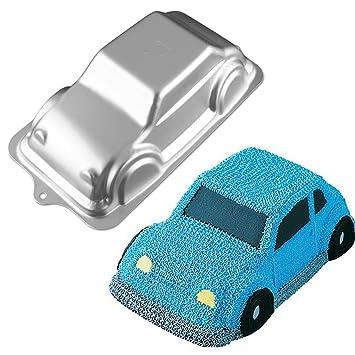 Kicode Aleación de aluminio En forma de coche Moldes para pan Para la cocina de la fiesta de cumpleaños Herramienta para hornear Moldes creativos de ...