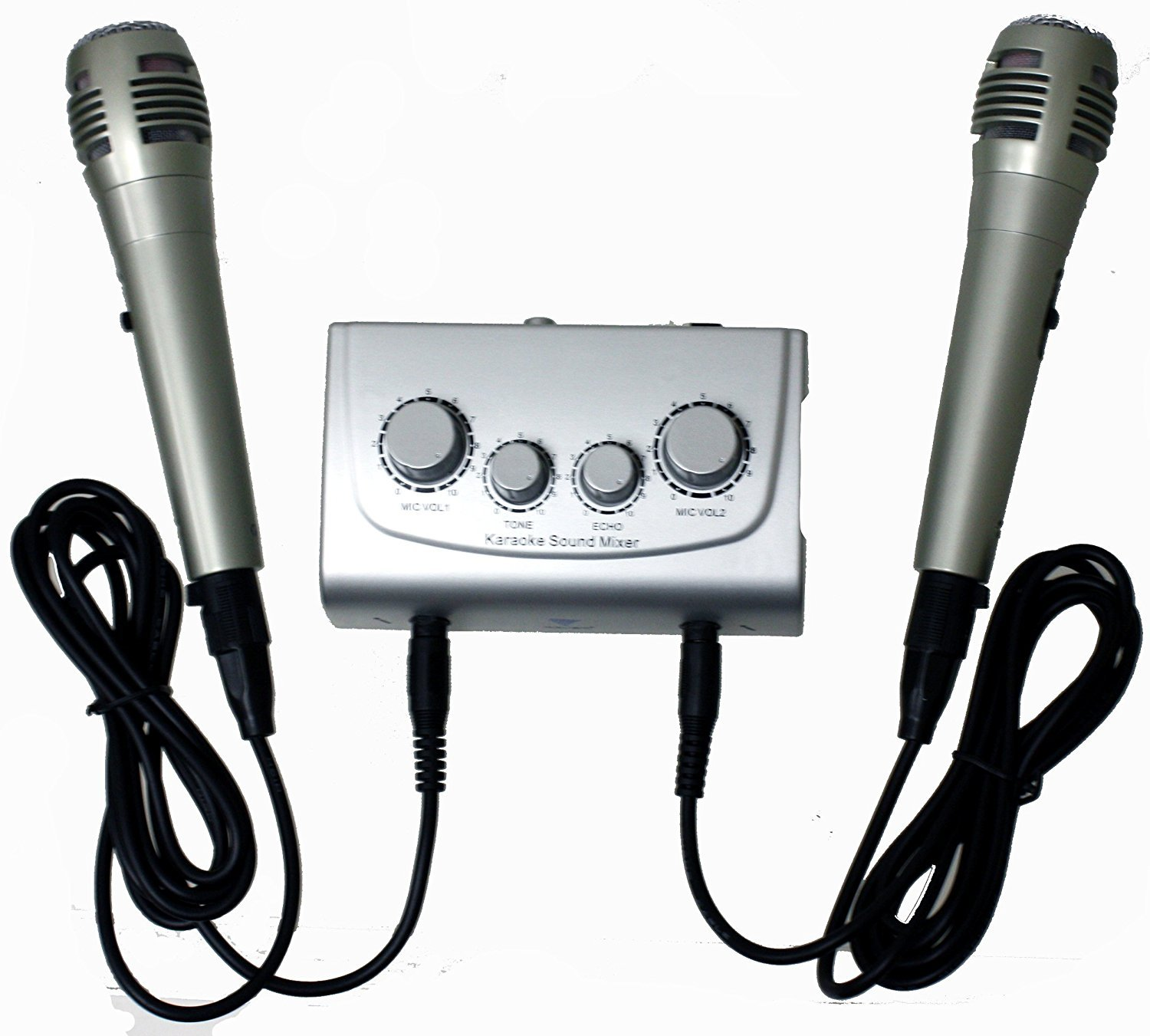 Azusa Mik0115 Karaoke Mixer With Microphones Musical Low Cost Mic Instruments