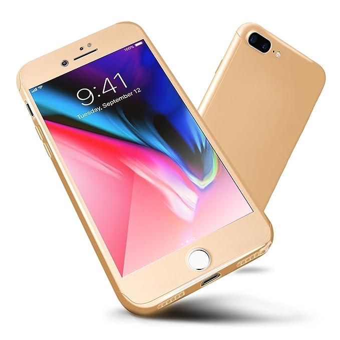 Funda iPhone 6s/6, ORETech Carcasa iPhone 6/6s Case Cover 360 Grados con [2-Pack Transparent Protector de Pantalla de Vidrio Templado][Ultra-Delgado] ...