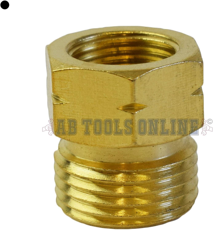 El adaptador de la manguera de gas a 21.8-14 G 3/8-19 Vaso Regulador de quemadores de tubo de rosca de latón
