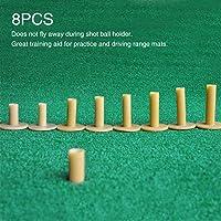 Urstory1 - Soporte de golf, 8 piezas, goma, soporte de golf para práctica de golf, para práctica de entrenamiento, para…