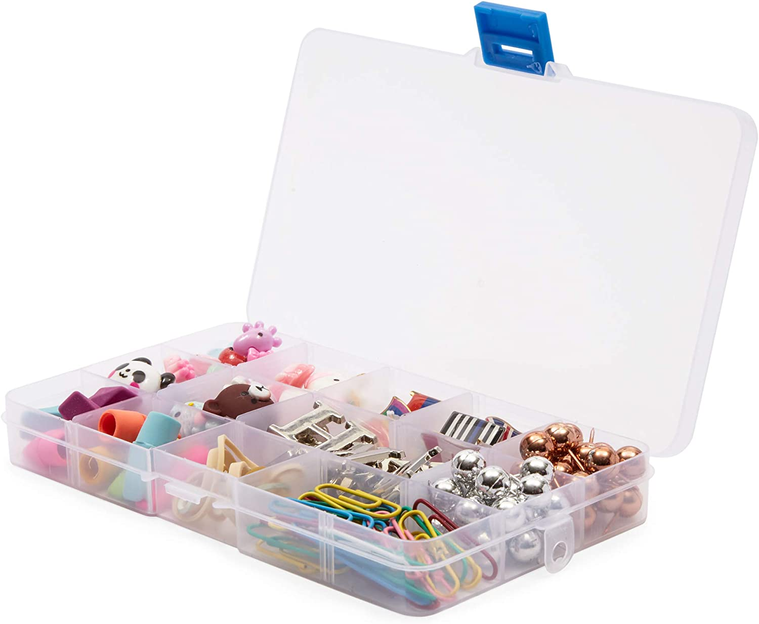 Clear Jewelry Box 6-Pack Plastic Bead Storage Container Earrings Organizer