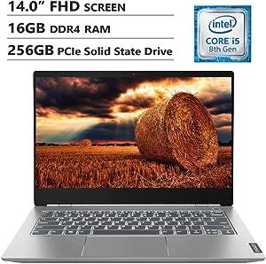 "Lenovo ThinkBook 14S 14"" FHD Screen Laptop, Intel Core i5-8265U Up to 3.9GHz, AMD Radeon 540X, 16GB DDR4 RAM, 256GB PCIe SSD, Wireless-AC, HDMI, USB Type-C, Windows 10 Home, Gray"