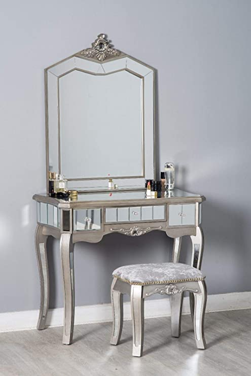Furnituremaxi French Style Dressing Table Set with Stool ...