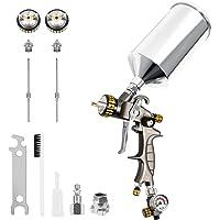 $139 » BEETRO HVLP Professional Gravity Feed Air Spray Gun Automotive, Type 2.0 Adapter,…