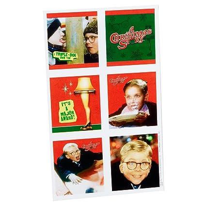 A Christmas Story Characters.Amazon Com Hallmark A Christmas Story Stickers 4 Sheets