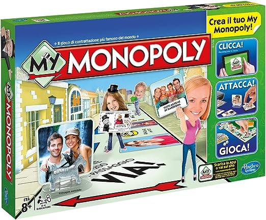 Hasbro Monopoly - My Monopoly (versión en Italiano): Amazon.es: Juguetes y juegos