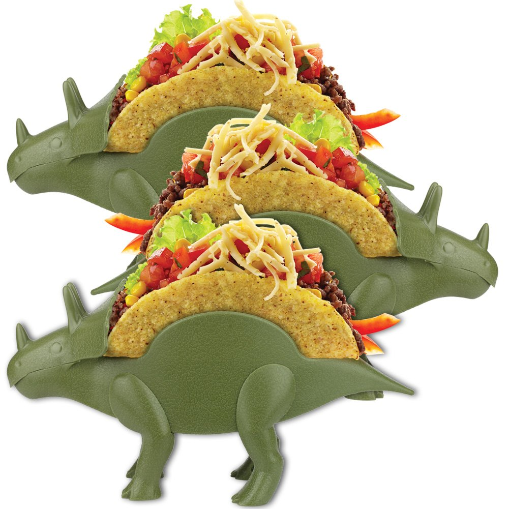 Tricerataco Double-Slotted Dinosaur Taco Holders (Set of Three) Fun MealTime