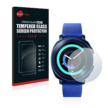 savvies Cristal Templado Compatible con Samsung Gear Sport ...