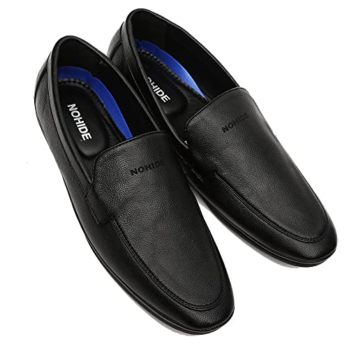 db700b4b690 NOHIDE Men s 360 Black Water Resistant Loafers Shoes   Office   Party Wear  Shoes For Men