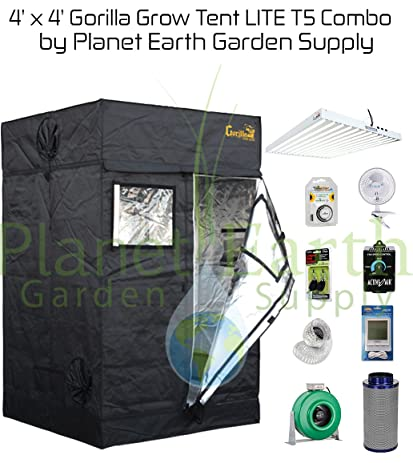 4x4 Gorilla Grow Tent Kit T5 Combo Package #2  sc 1 st  Amazon.com & Amazon.com : 4x4 Gorilla Grow Tent Kit T5 Combo Package #2 ...