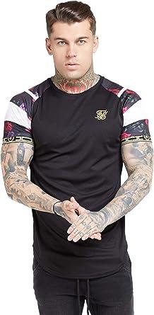 Sik Silk de los Hombres Camiseta Raglan Sprint Tape, Negro: Amazon.es: Ropa y accesorios