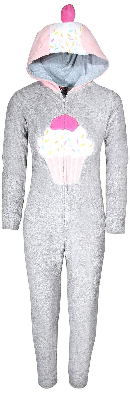dELiAs Girls Coral Fleece Onesie Pajamas with Character Hood dELiA*s