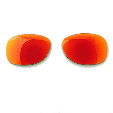 f76329b83 Amazon.com: Orange Mirror Replacement Lenses Ray-ban Rb 2132 622/69 55mm +  ShadesDaddy Glasses: Clothing
