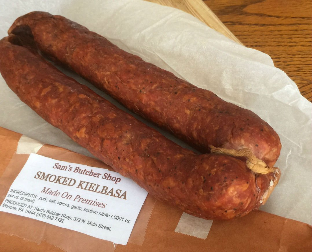 5 LBS Smoked Kielbasa - Made Fresh, Allow 1 Week for Processing - Ship To These States Only: AL, CT, DC, DE, FL, GA, IL, IN, KY, MD, ME, MA, MI, NC, NH, NJ, NY, OH, PA, RI, SC, TN, VT, VA, WV