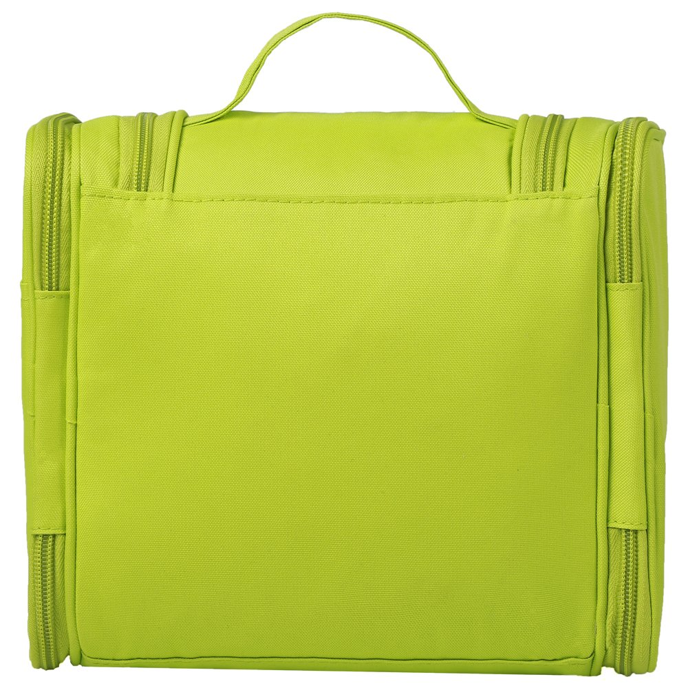 NORDSHIELD Waterproof Hanging Toiletry Bag Travel Toiletries Kit for Women Men - Portable Cosmetic Organizer Bag Shaving Case with Mesh Pockets & Sturdy Hook (Green)