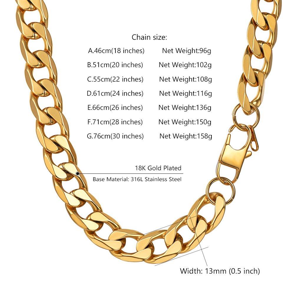 40647c3835d PROSTEEL Chaîne Maille Hawaï Serrée Link Chain Necklace en Acir Inox  316L Plaqué Or Plaqué Métal Noir Fashion Bijoux pour Homme Garçon ...