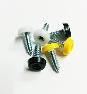 Cherished Registration Number Plate Fixing Oversized Screws Caps Mix Replacement & 24 x NUMBER PLATE CAR FIXING FITTING KIT SCREWS u0026 CAPS HINGED ...
