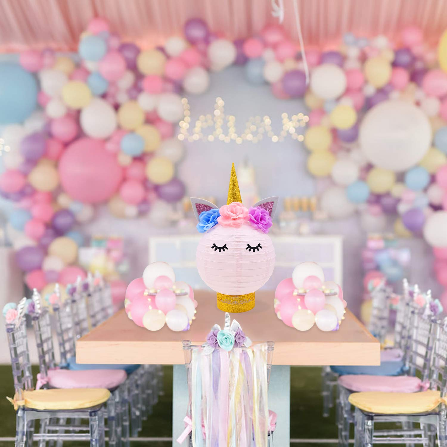 Amazon Unicorn Party Decorations Table Centerpieces Paper Lanterns DIY Ideas For Baby Shower Birthday Supplies Toys Games