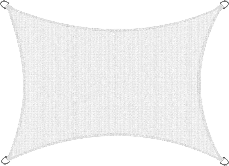 Sol Royal SolVision HS9 Vela de Sombra Toldo Parasol 400x200 cm HDPE Transpirable Blanco protección UV