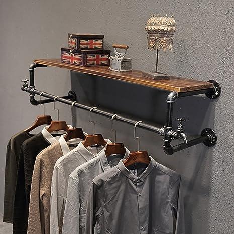 LXSnail Tienda de Ropa Display Rack, Loft Retro Industrial ...