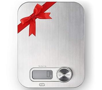 ellessi Digital Alimentos Escala. Recargable libre Digital Cocina Escala (5 kg. No necesita pilas. Nunca. Precisa, portátil, durable alimentos escala: ...