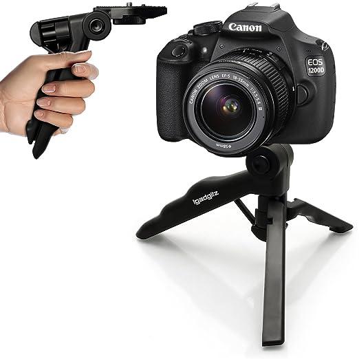 21 opinioni per igadgitz 2 in 1 Stabilizzatore Manico Mini Treppiede da Tavolo per Canon EOS SLR